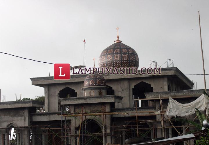 gambar kubah masjid tembaga