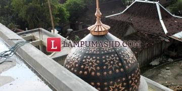 kubah masjid tembaga kecil