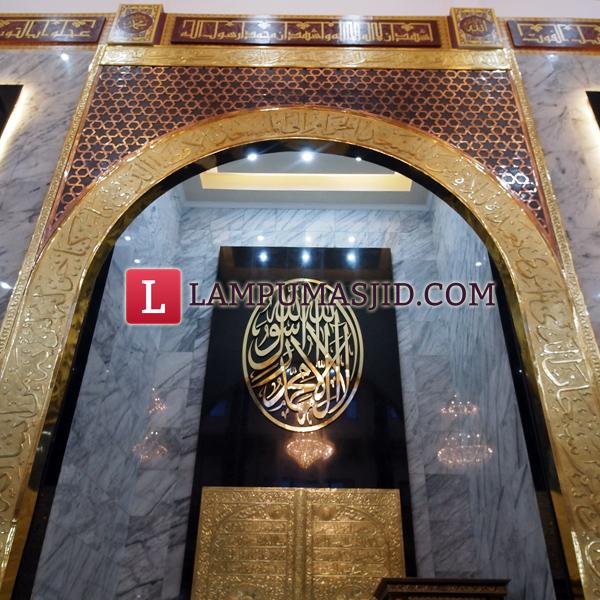Mihrab masjid polres balikpapan