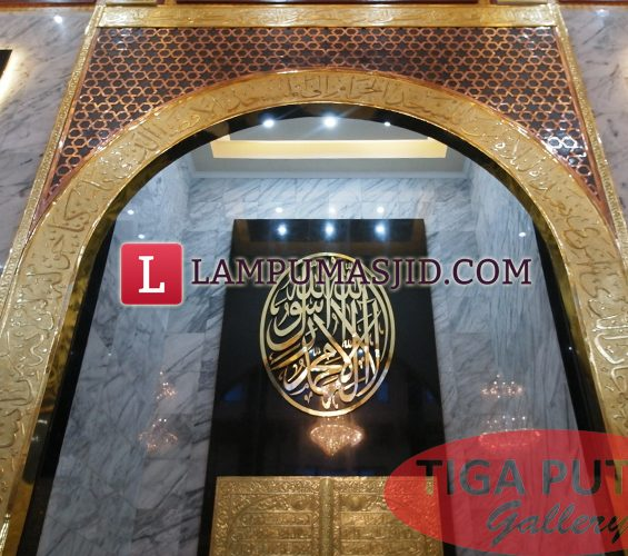 Ornament masjid kuningan tembaga