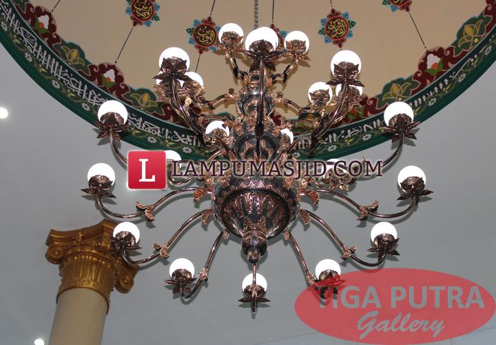 Lampu gantung masjid 34 tangkai
